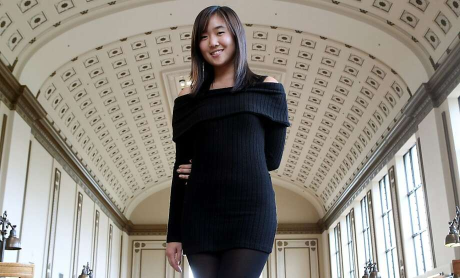 UC Berkeley student Nadia Cho's Daily Cal column about a campus sex romp in which she sought to have sex in a library, among other haunts, sparked a furor. Photo: Lance Iversen, The Chronicle