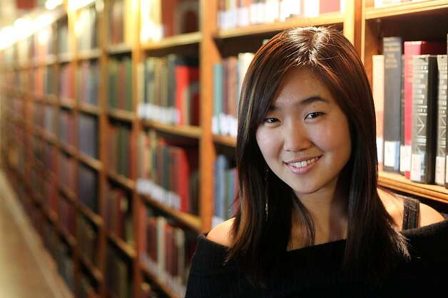 A psychology major, Nadia Cho has never considered writing a career option. Photo: Lance Iversen, The Chronicle
