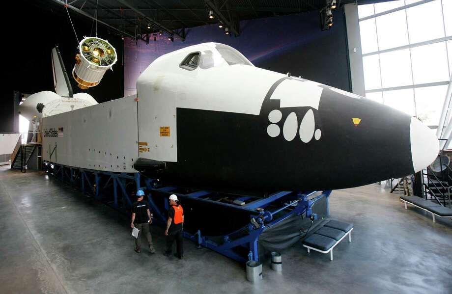 September 13 ,2012— The Space Shuttle Full Fuselage Trainer is shown as work continued to assemble the artifact at Seattle's Museum of Flight. The centerpiece of the new Charles Simonyi Space Gallery debuted to the public on November 10th. Photo: JOSHUA TRUJILLO / SEATTLEPI.COM