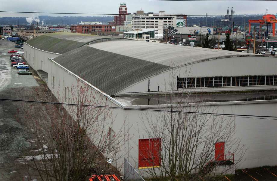 February 16, 2012 — The possible location of a new NBA and NHL arena is shown south of the Safeco Field parking garage in Seattle's Sodo neighborhood. The headquarters of Starbucks can be seen in the background. Photo: JOSHUA TRUJILLO / SEATTLEPI.COM