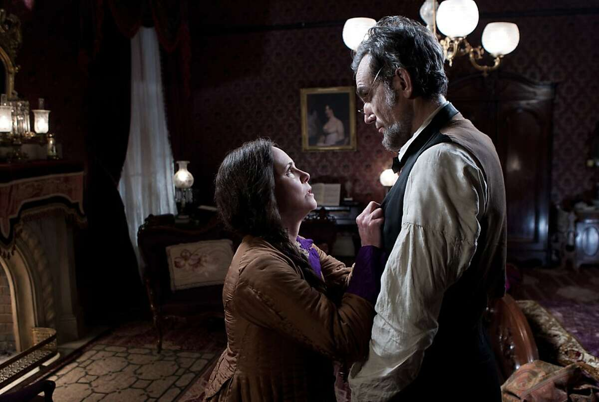 This image released by DreamWorks II Distribution Co., LLC and Twentieth Century Fox Film Corporation shows Sally Field and Daniel Day-Lewis appear in a scene from