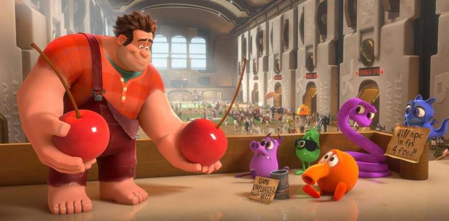 19. WRECK-IT RALPH: Q-Bert finally gets his breakout role, basically playing Jack Nicholson's character in Ironweed. Ralph is clever and inventive, especially in the early scenes involving the Fix-It Felix Jr. video game world. Disney Animation takes a chance with something different and it pays off.(AP Photo/Disney)
