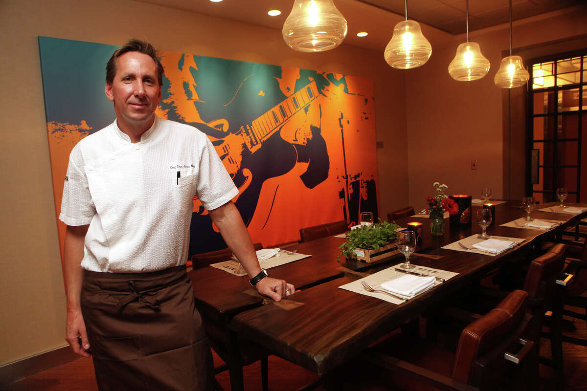 Chef Dean James Max stands in a new restaurant , Parallel Post, at the Trumbull Marriott on Monday, December 17, 2012.