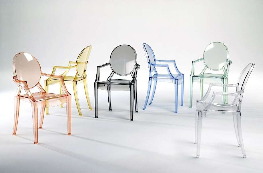 The 2002 Louis Ghost Chair  by Philippe Starck for Kartell sparked a resurgence in acrylics. ($410;  www.dwr.com).