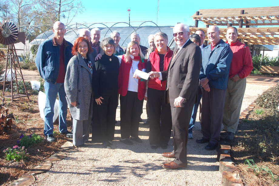 JEDCO presents check for Jasper Arboretum. Photo: Jimmy Galvan