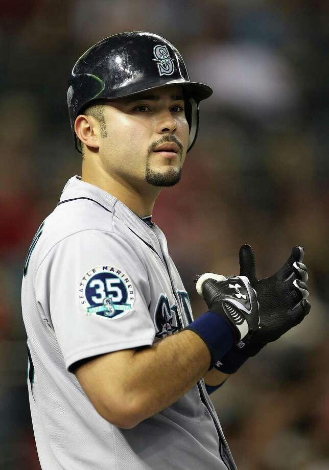 "7. Jesus Montero -- Mariners catcher""He had a boyish charm when he first came to Seattle, but that quickly gave way to a gritty allure once he stepped up to the plate."" Photo: Christian Petersen, Getty Images / 2012 Getty Images"