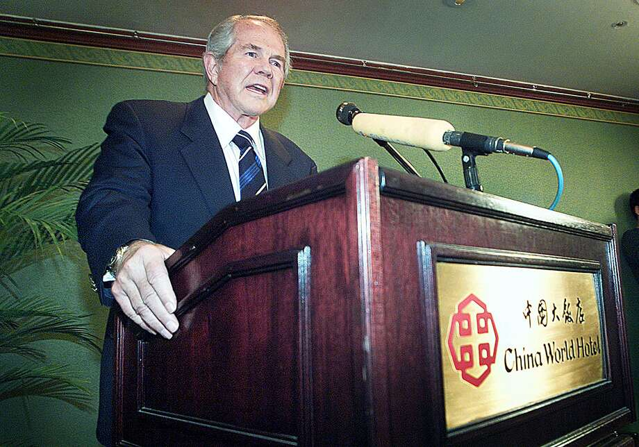 "In 2007, either all of us or just some really big portion of us were supposed to go up in nuclear flames, according to Pat Robertson, who's made a career out of predictions give him by God … though apparently  those messages are pretty vague. In 1976, Robertson predicted that the world would come to an end in 1982,  the Village Voice wrote. ""I guarantee you by the end of 1982 there is going to be a judgment on the world,"" he said during a broadcast of The 700 Club, a show he hosts on the Christian Broadcasting Network. (Photo: Frederic J. Brown/AFP/Getty Images) / AFP"