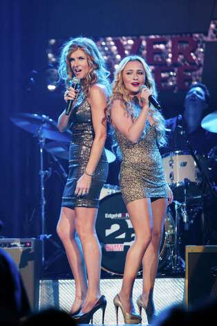 "Connie Britton, left, and Hayden Panettiere have been nominated for Golden Globes for their star turns in ""Nashville."" Photo: Associated Press / American Broadcasting Companies,"