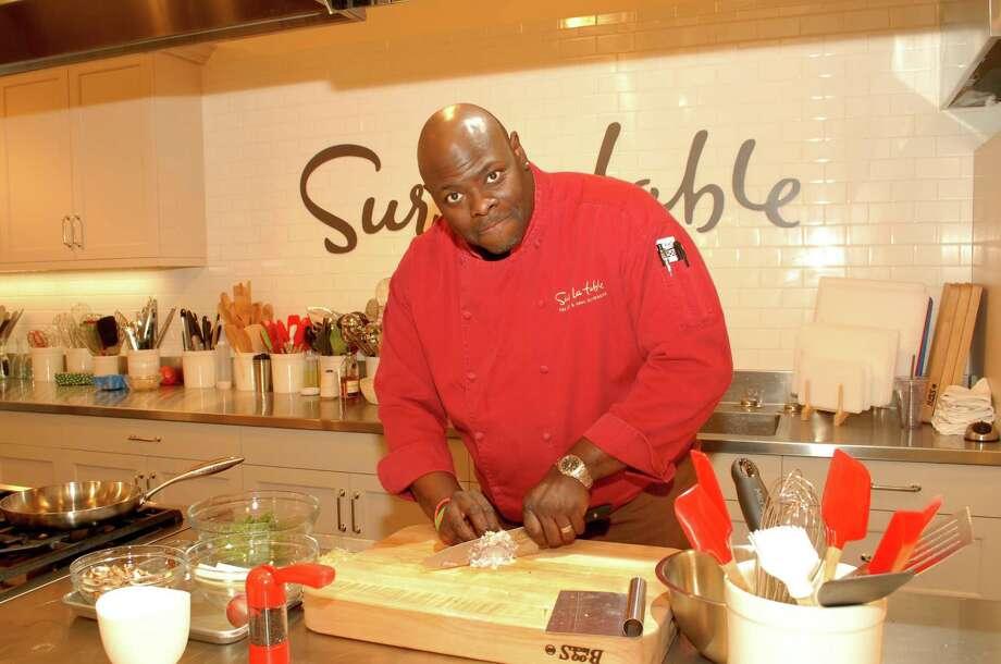 Sur La Table resident chef Brian Wilson prepares food. Photo: George Wong / Freelance
