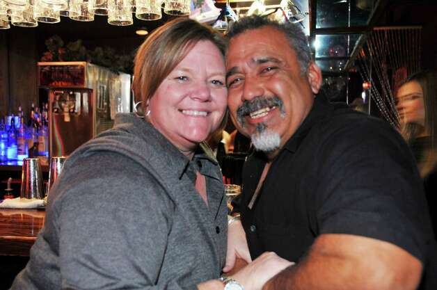 Karen Silva and Alex Silva are regulars at the Martini Club.