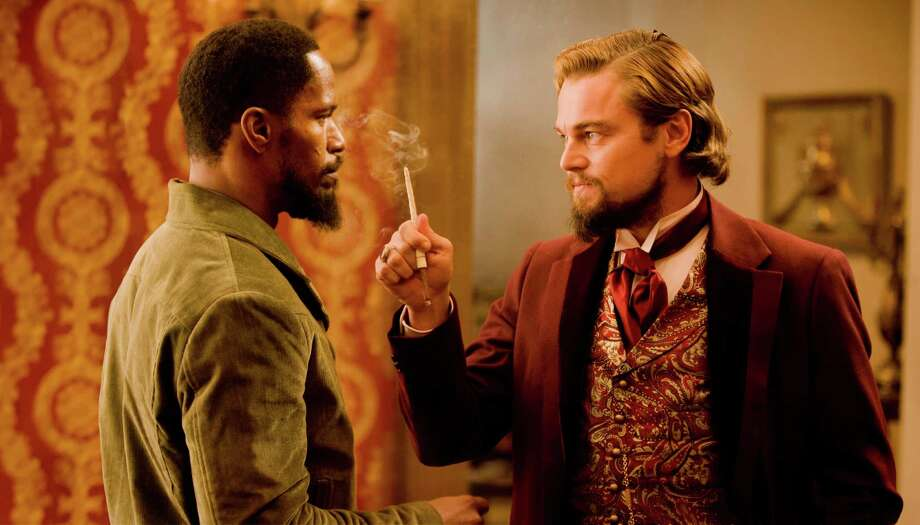 "In this undated publicity photo released by The Weinstein Company, from left, Jamie Foxx as Django and Leonardo DiCaprio as Calvin Candle star in the film, ""Django Unchained,"" directed by Quentin Tarantino. ""Flight,"" ""Django Unchained,"" ""Beasts of the Southern Wild,"" ""Red Tails"" and ""Tyler Perry's Good Deeds"" are up for the outstanding motion picture trophy at the 44th annual NAACP Image Awards. (AP Photo/The Weinstein Company, Andrew Cooper, SMPSP) Photo: Associated Press"