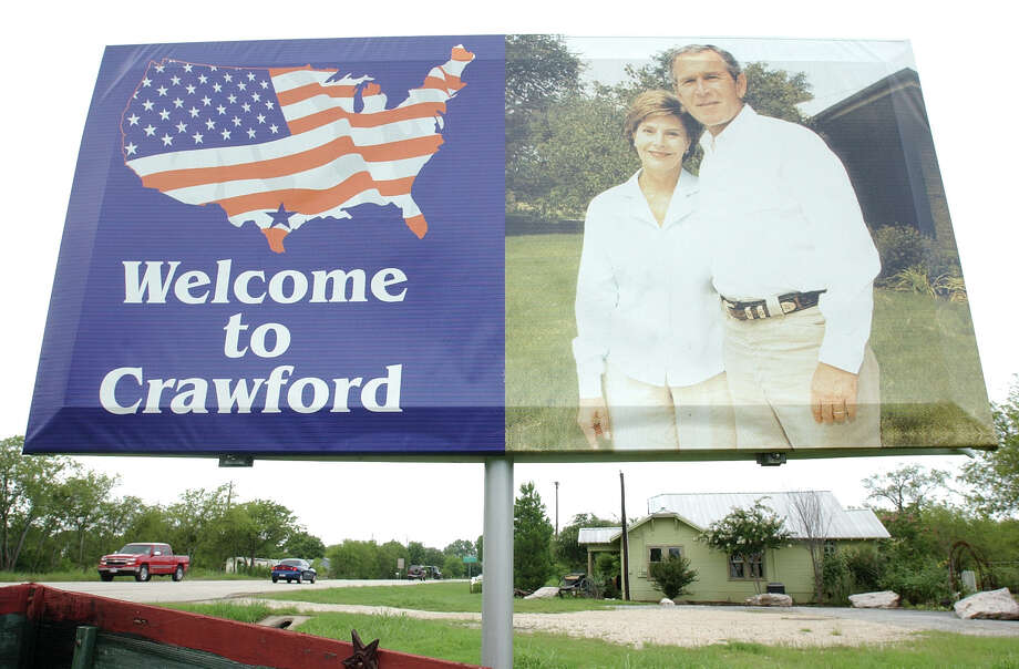 George W. Bush drove the truck around his ranch in Crawford. Photo: Jerry Larson, For The Chronicle / Freelance