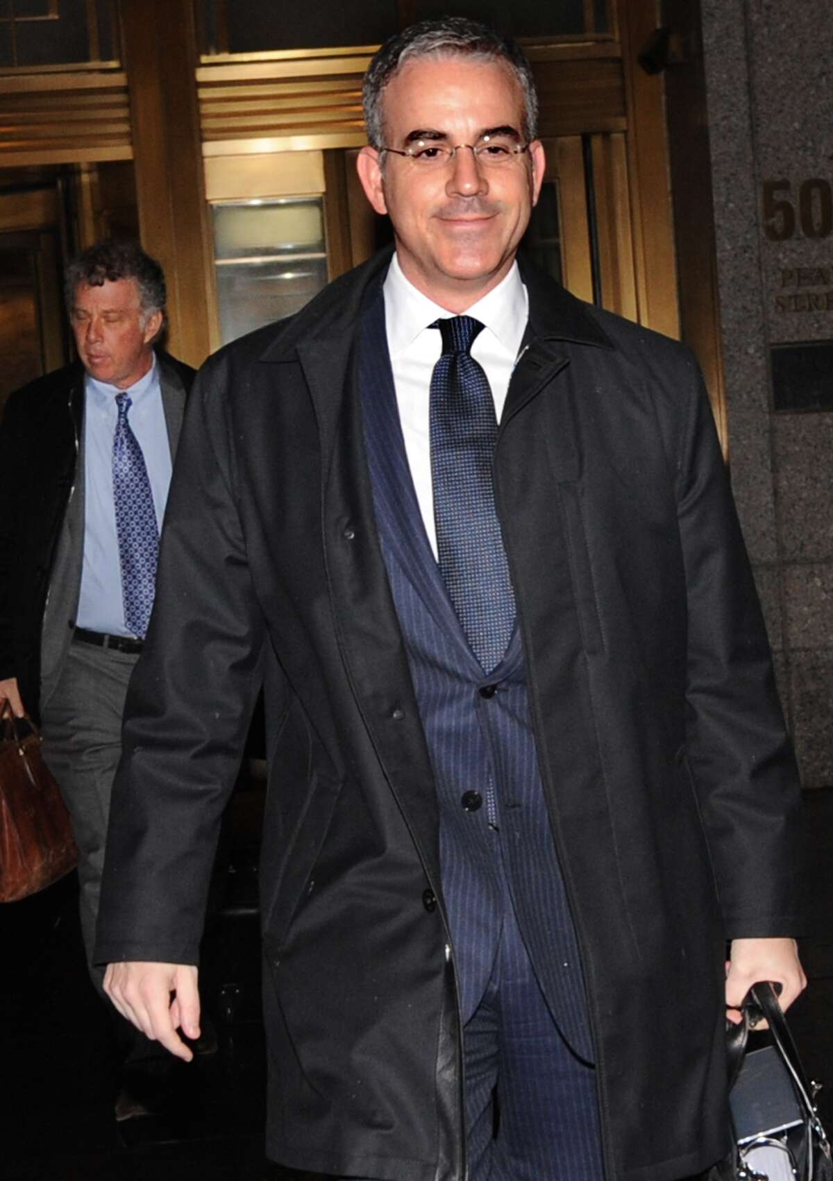 Co-founder of Level Global Investors Anthony Chiasson leaves Manhattan federal court with his attorney Reid Weingarten following, Tuesday, Nov. 27, 2012, in New York.
