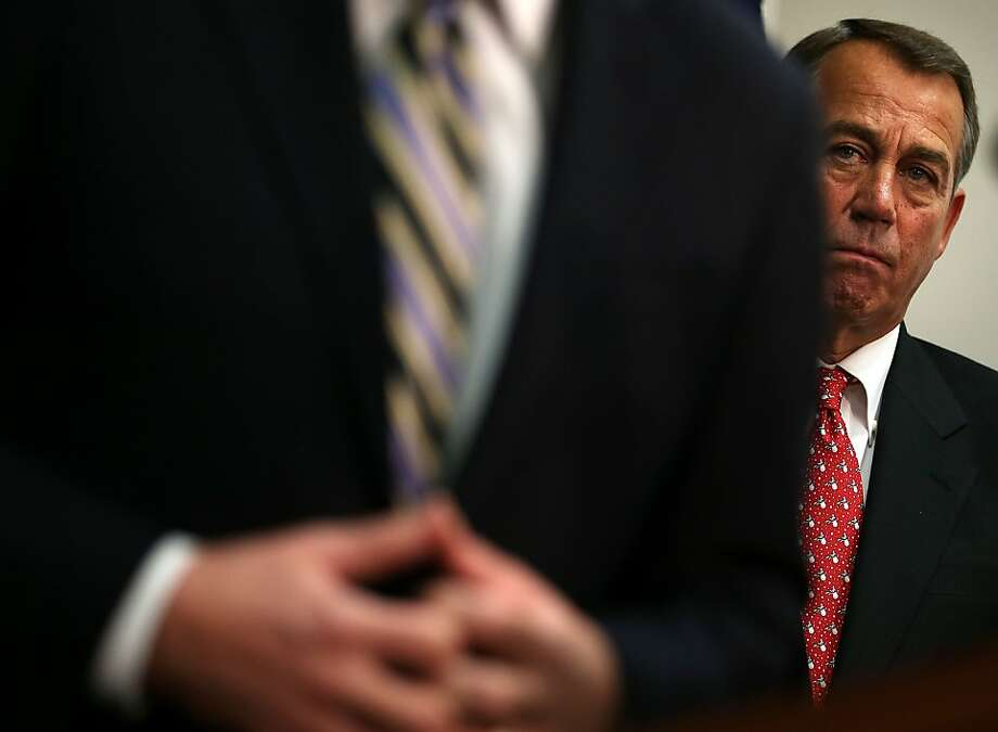 "House Speaker John  Boehner told House Republicans that he'll seek a vote later this week on a ""Plan B"" that would raise taxes on million- dollar earners. Photo: Alex Wong, Getty Images"