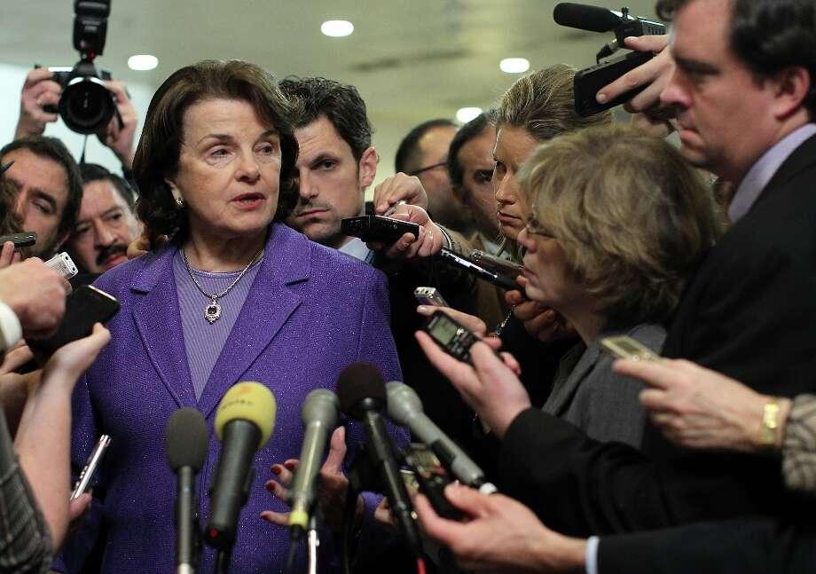FILE — U.S. Sen. Dianne Feinstein (D-CA). Photo: Alex Wong, Getty Images / 2012 Getty Images
