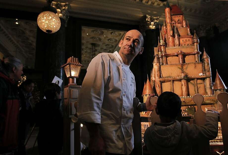 Executive Pastry Chef, Jean Francois Houdre, creator of the Holiday Sugar Castle at the Westin St. Francis Hotel in Union Square on Tuesday Dec. 18, 2012 in San Francisco, Calif. Photo: Michael Macor, The Chronicle
