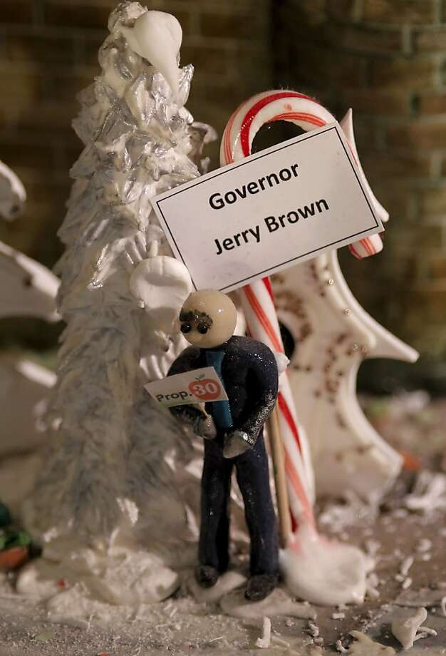 California Governor Gerry Brown is displayed in sugar at the annual display of the Sugar Castle at the Westin St. Francis Hotel in Union Square on Tuesday Dec. 18, 2012 in San Francisco, Calif. Photo: Michael Macor, The Chronicle