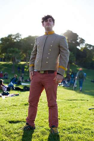 Josh Constine pairs Boston pants with a jacket from the San Francisco Opera sale. Photo: Anna-Alexia Basile