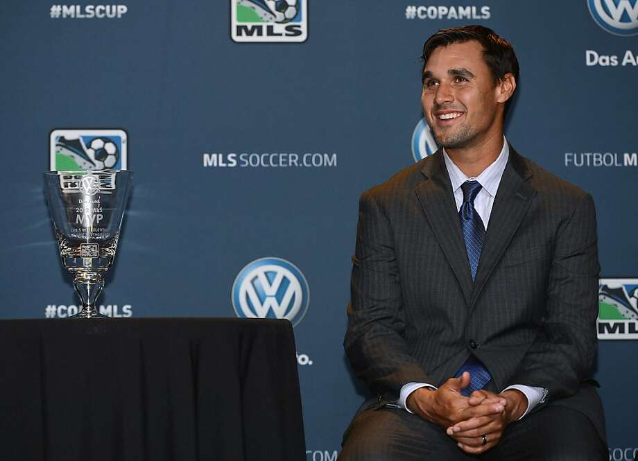 CARSON, CA - NOVEMBER 29:  Chris Wondolowski of the San Jose Earthquakes smiles as he waits to be presented with the 2012 MLS Most Valuable Player Award at The Home Depot Center on November 29, 2012 in Carson, California.  (Photo by Harry How/Getty Images) Photo: Harry How, Getty Images