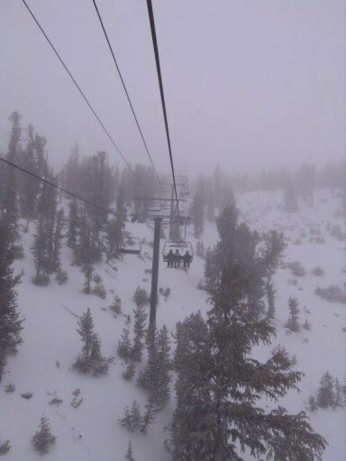 It was snowing and blowing at Heavenly on Dec. 15, 2012. (Al Saracevic/SF Chronicle)