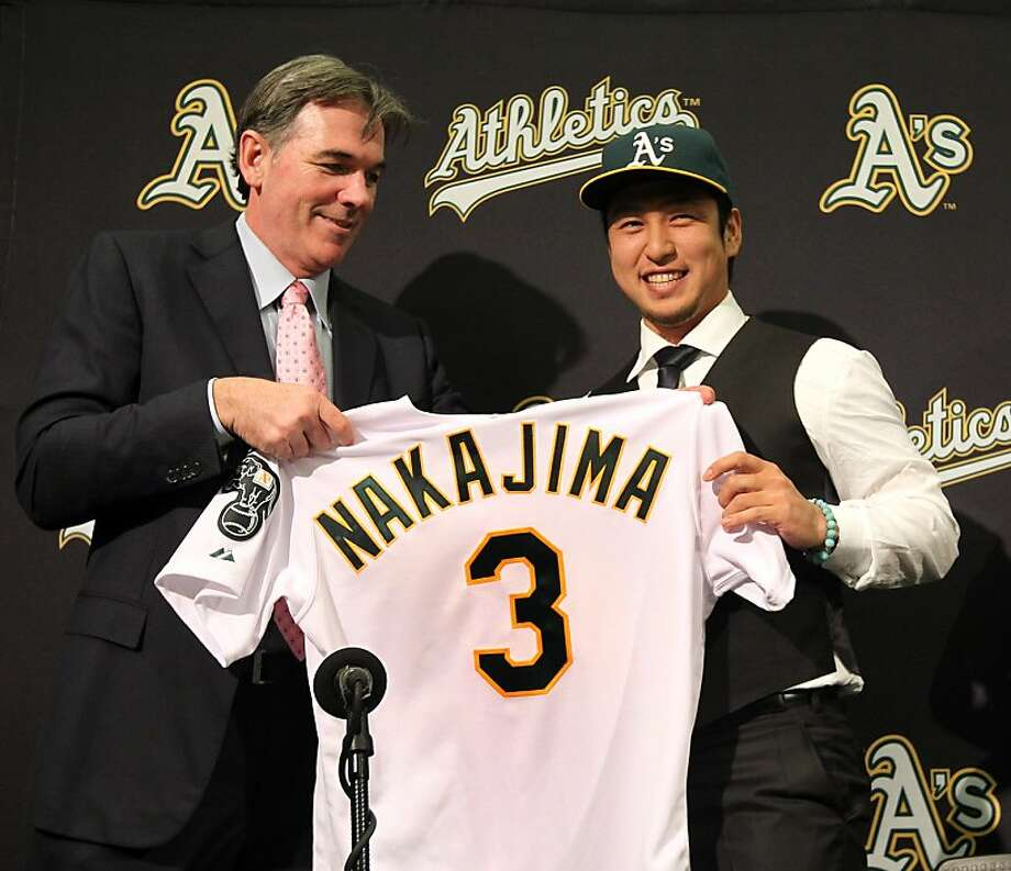 Oakland A's GM Billy Beane is looking at Cuban shortstop Aledmys Diaz as a possible backup for recently signed Japanese shortstop Hiroyuki Nakajima. Photo: Lance Iversen, The Chronicle