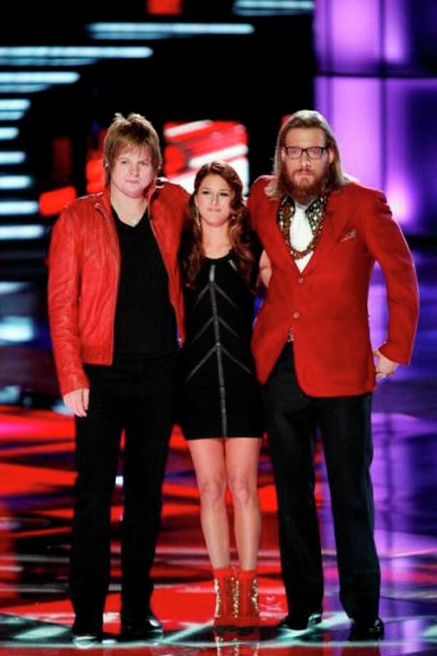 THE VOICE -- Live Finale Episode 323B -- Pictured: (l-r) Terry McDermott, Cassadee Pope, Nicholas David -- (Photo by: Tyler Golden/NBC) Photo: Tyler Golden / Tyler Golden