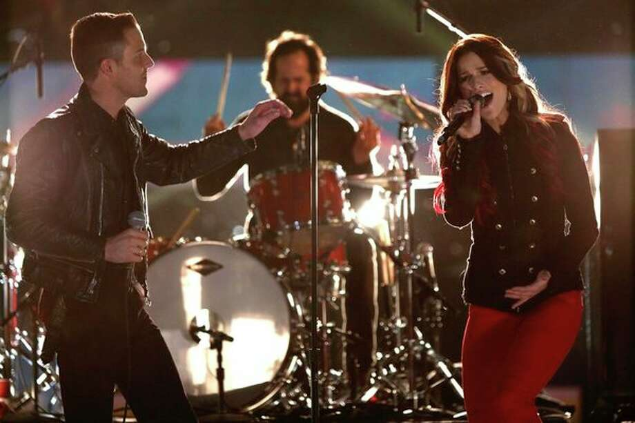 THE VOICE -- Live Finale Episode 323B -- Pictured: (l-r) The Killers' Brandon Flowers, Cassadee Pope -- (Photo by: Tyler Golden/NBC) Photo: NBC, Tyler Golden/NBC / 2012 NBCUniversal Media, LLC