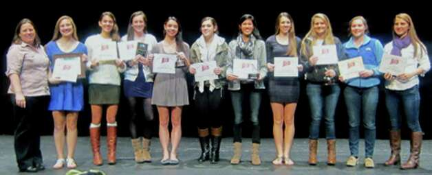 Green Wave field hockey during the New Milford High School fall sports awards ceremony, Dec. 10, 2012 Photo: Norm Cummings
