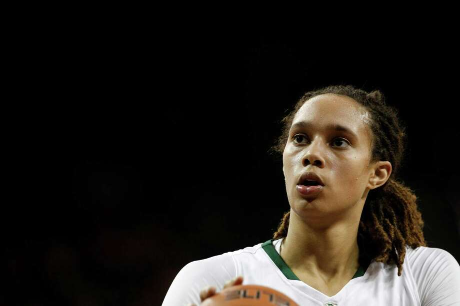 Baylor center Brittney Griner (42) shoots a free throw during an NCAA women's college basketball game against Kentucky  Tuesday, Nov. 13, 2012, in Waco, Texas. Baylor won 85-51. (AP Photo/Tony Gutierrez) Photo: Tony Gutierrez, STF / AP