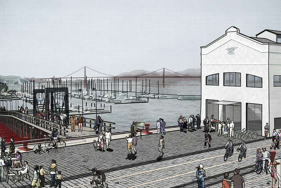 The design competition to improve San Francisco's Fort Mason Center was won by a team led by the landscape architecture firm West 8. The winning scheme emphasizes better connection of the center to its surroundings, including ramps down from adjacent Fort Mason, a footbridge to Marina Green and stepped platforms leading into the bay. Photo: West 8