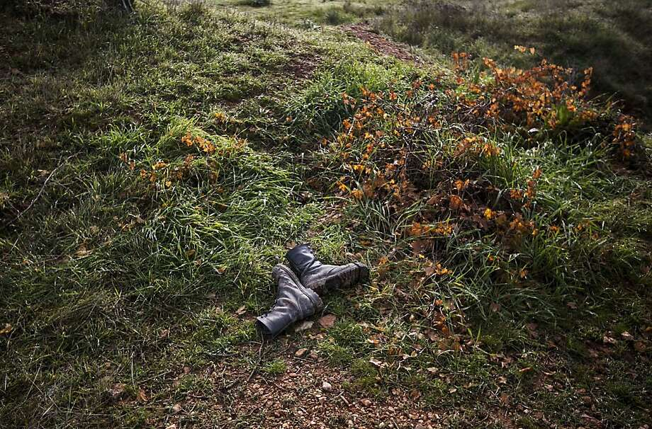 This Sunday, Dec. 16, 2012 photo, shows a pair of boots belonging to a Syrian army solider at the battlefield where heavy clashes with Free Syrian Army fighters took place at a military academy besieged by rebels north of Aleppo, Syria. Photo: Narciso Contreras, Associated Press