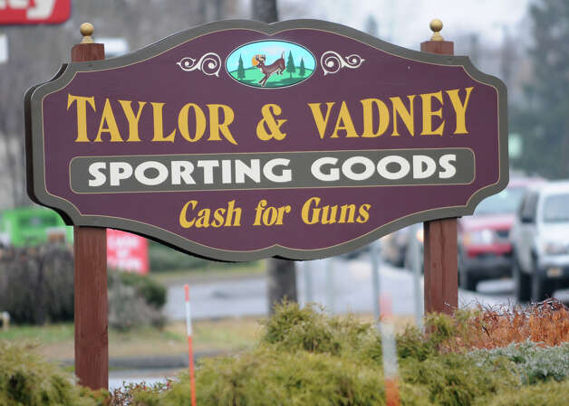 Sign outside of Taylor & Vadney Sporting Goods Store on Tuesday Dec. 18, 2012 in Rotterdam, N.Y. (Lori Van Buren / Times Union) Photo: Lori Van Buren