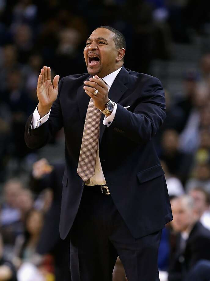 OAKLAND, CA - DECEMBER 18:  Head coach Mark Jackson of the Golden State Warriors shouts instructions to his team during their game against the New Orleans Hornets at Oracle Arena on December 18, 2012 in Oakland, California. NOTE TO USER: User expressly acknowledges and agrees that, by downloading and or using this photograph, User is consenting to the terms and conditions of the Getty Images License Agreement.  (Photo by Ezra Shaw/Getty Images) Photo: Ezra Shaw, Getty Images