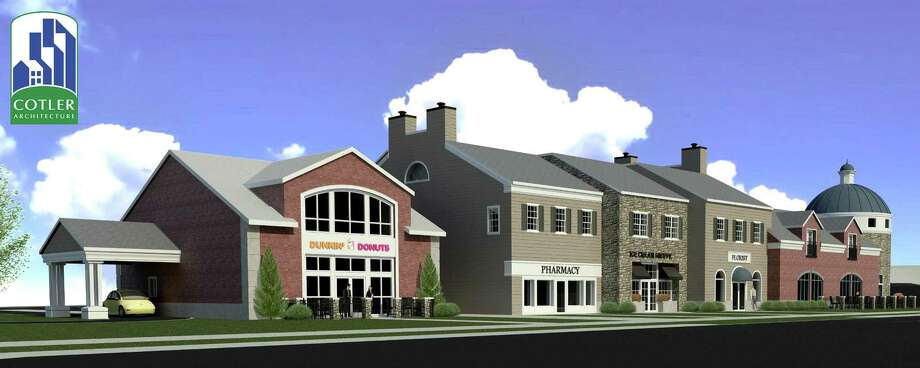 Artist?s rendering (Courtesy Cotler Architecture, P.C.) of the third phase of the Village of New Loudon on Route 9 in Colonie includes retail and office space, 71 condominiums and 24 apartments.