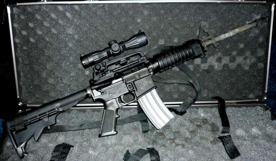 The ATF defines an AR-15 as a rifle, not a machine gun.