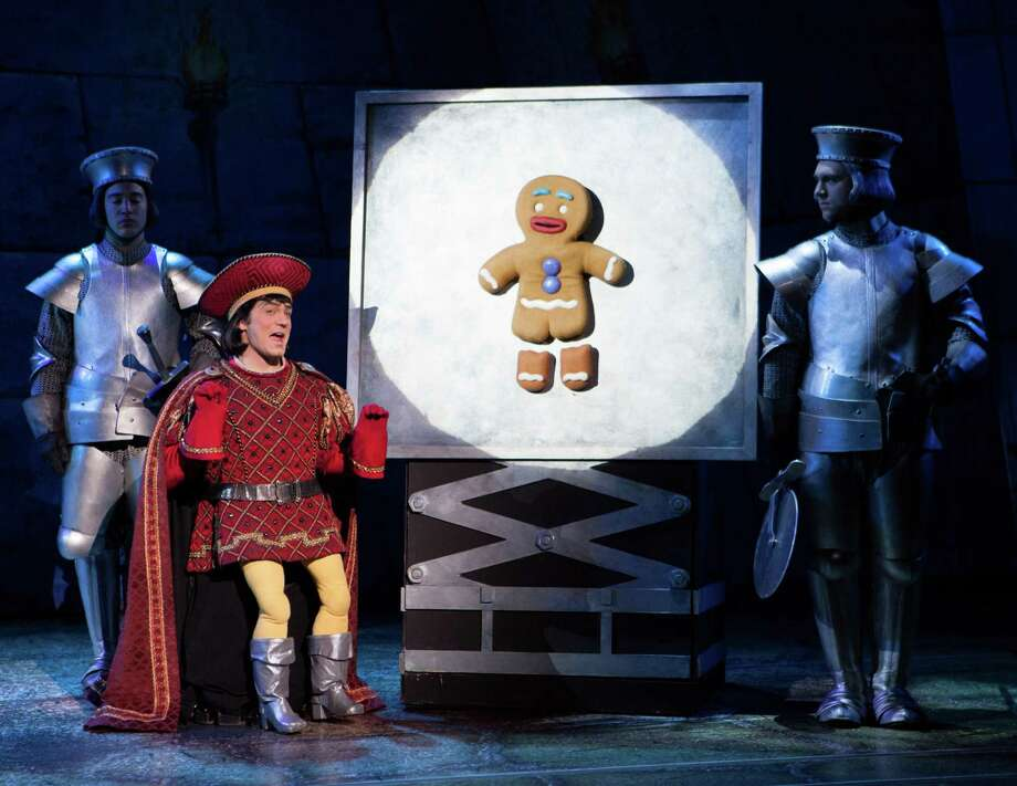 "Christian Marriner plays the diminutive Lord Farquaad in the national tour of ""Shrek - The Musical"" which is playing the Shubert Theatre in New Haven Dec. 28 to 30. Photo: Contributed Photo / Connecticut Post Contributed"