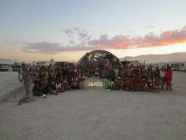 The IDEATE innovation camp brought 210 people to the Burning Man festival this summer to brainstorm ideas for the future. (Photo courtesy of IDEATE).
