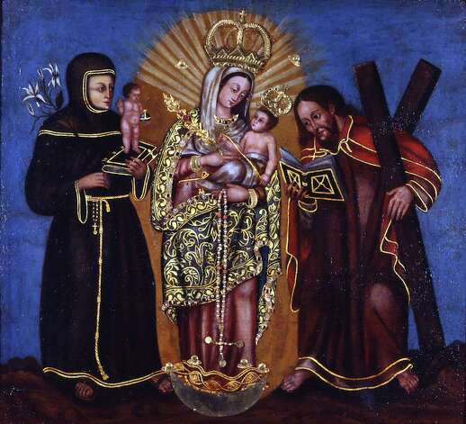 "The ""Virgin of the Rosary of Chichinquira"" is part of SAMA's ""Rostros de Maria"" exhibit. Photo: San Antonio Museum Of Art"