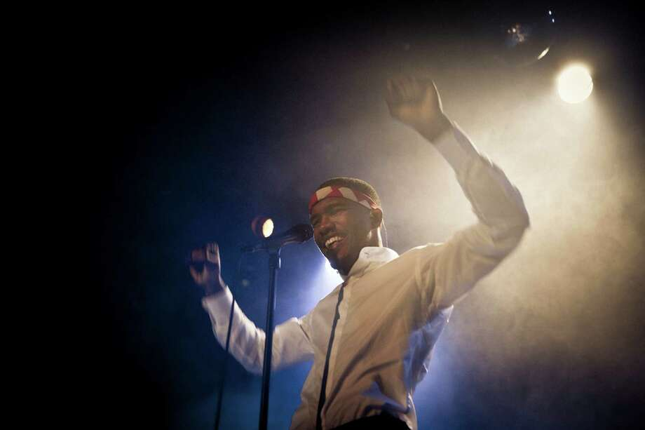 """FILE -- Frank Ocean onstage at his sold-out Bowery Ballroom show in New York, Nov. 27, 2011. Ocean, who was written for Beyonce and Justin Bieber, has his first full-length studio album, """"Channel Orange,"""" set to release in July 2012. (Chad Batka/The New York Times) -- PHOTO MOVED IN ADVANCE AND NOT FOR USE - ONLINE OR IN PRINT - BEFORE JULY 08, 2012. Photo: CHAD BATKA, STR / NYTNS"""