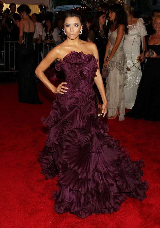 Actress Eva Longoria Parker arrives at the Metropolitan Museum of Art Costume Institute Gala in the dress that took her breath away. (Getty Images / Getty Images)