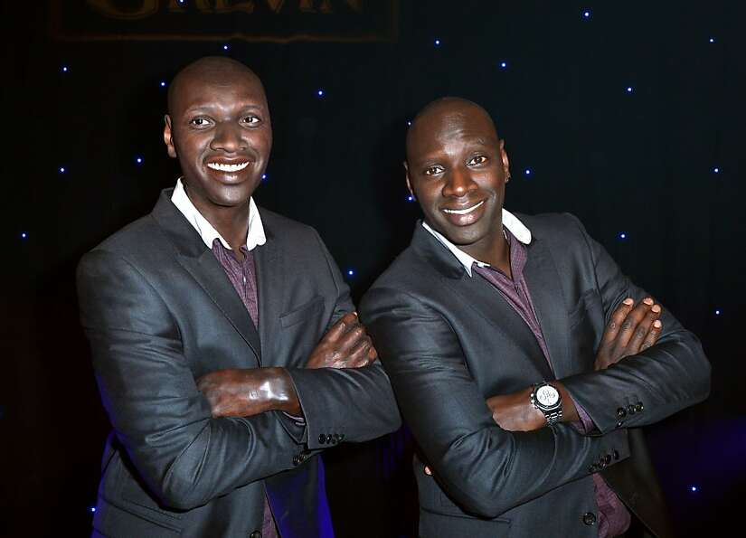 Which is the real French actor Omar Sy and which is a wax doppelgänger at the Grevin Museum