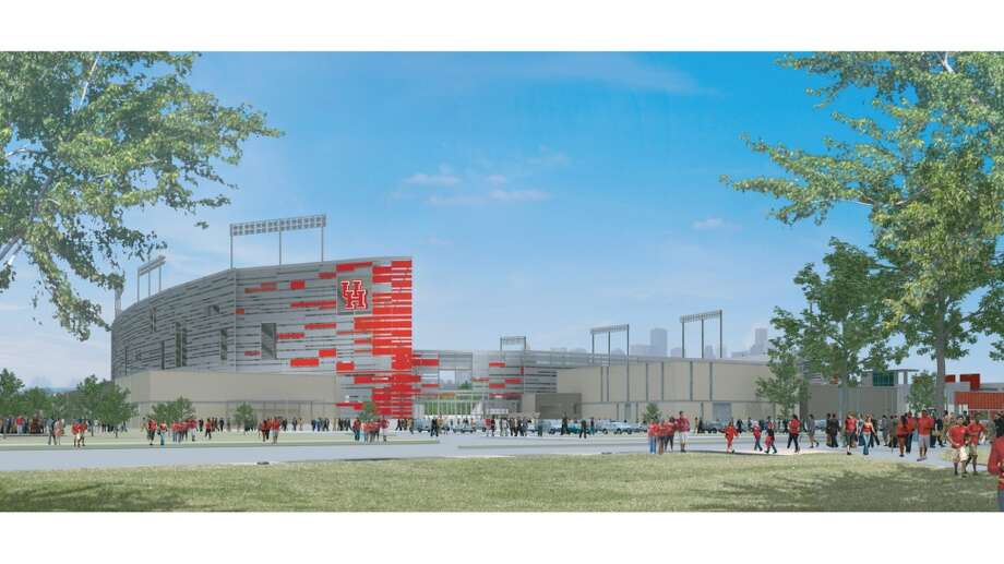 The southeast portal game at the University of Houston's new on-campus stadium, which will be completed in time for the 2014 season.