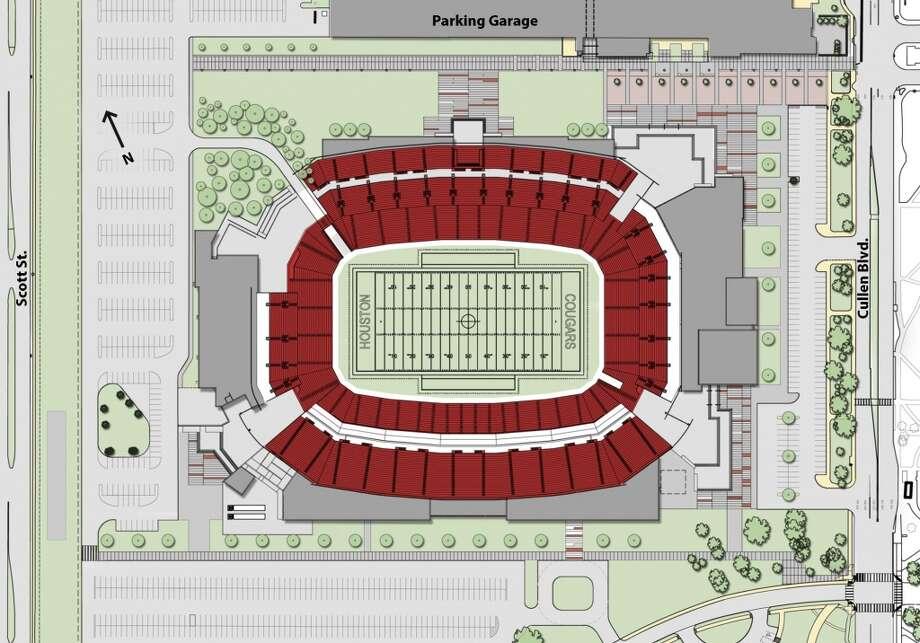 Stadium garage orientation.