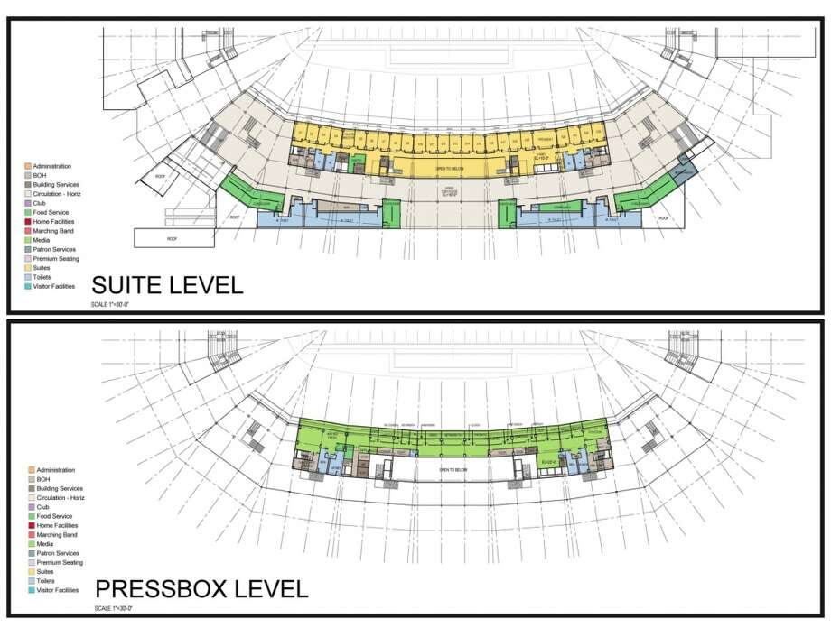Suite/press box blueprint.