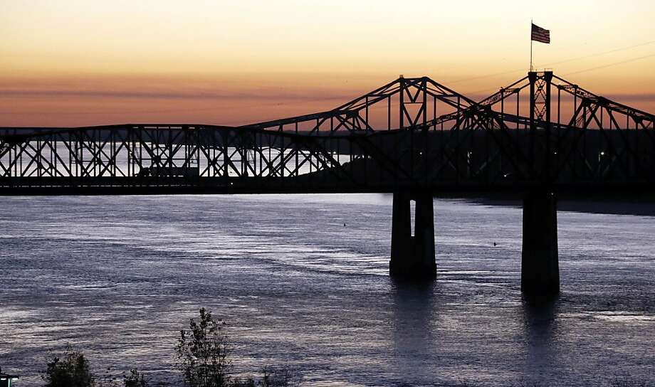 The Mississippi River may flow strong at the moment in Vicksburg, Miss., above, but reduced flows created by extreme weather conditions are straining the Missouri and Mississippi basins. Photo: Rogelio V. Solis, Associated Press