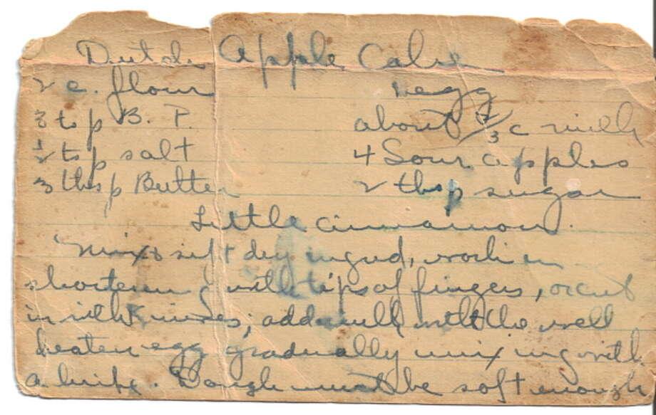 handwritten recipe for food section savor (http://recipecurio.com)