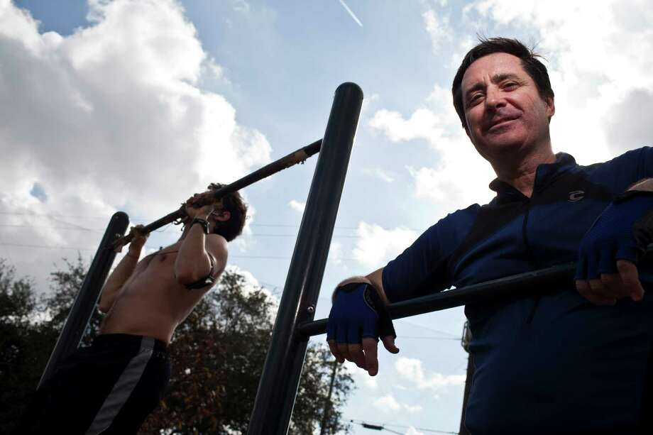Bill Rudolf, a person who has suffered from depression but has it under control and now helps others work out their depression issues Dec. 1, 2012 in Houston at Memorial Park. Exercise at the park used to allow Bill to be out among people, even when he felt very isolated and didn't really feel like talking. Photo: Eric Kayne / © 2012 Eric Kayne