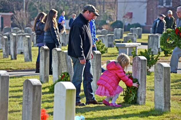 Participants of Wreaths Across America at Veterans Cemetery in Darien, Conn., last Saturday, Dec. 15, 2012. Photo: Jeanna Petersen Shepard