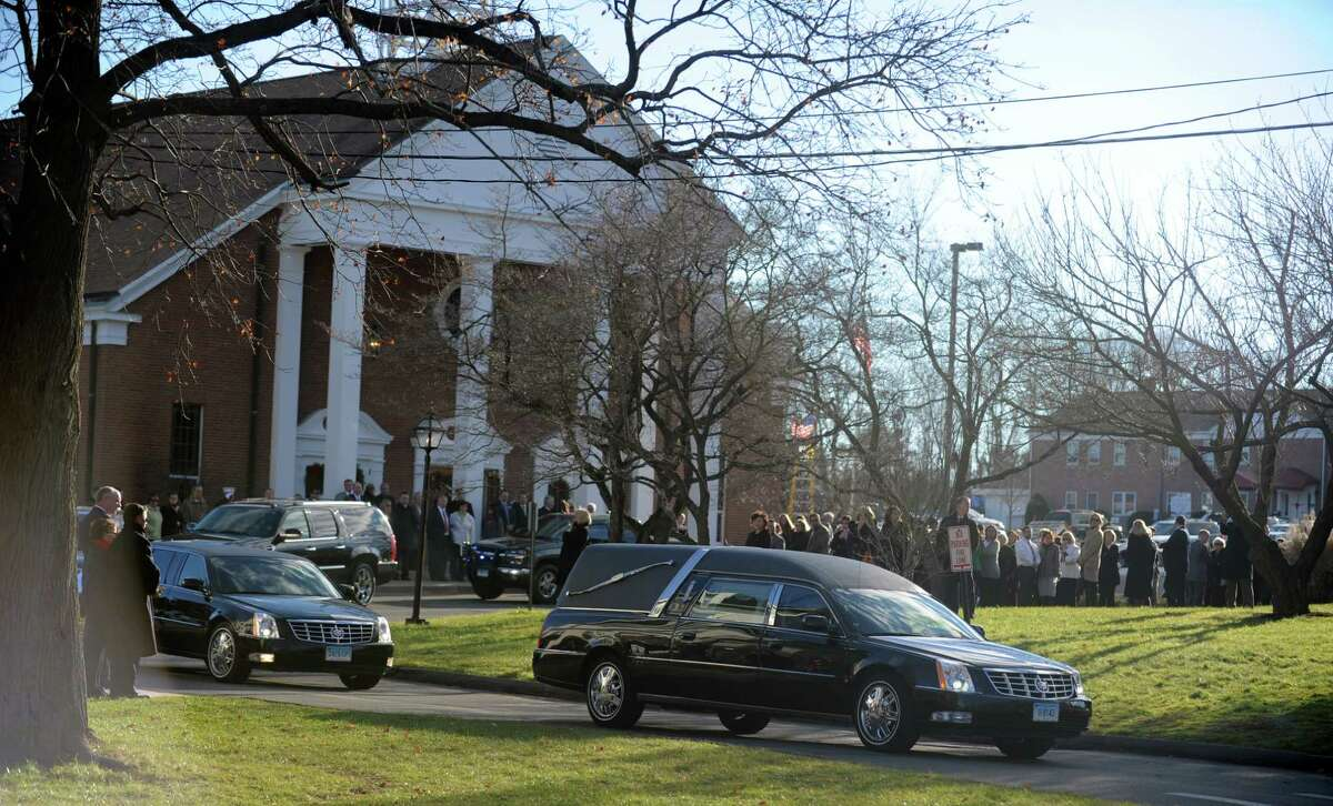 Funeral services for Caroline Previdi, a student victim of the Newtown shootings, is held Wednesday, Dec. 19, 2012 at St. Rose of Lima Roman Catholic Church in Newtown, Conn.