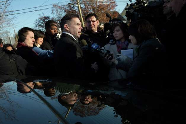Mike Ross Connecticut Post freelance -Fairfield Police Chief Gary MacNamara speaks to reporters outside Lordship Community Church on Dec. 19, in Stratford, Conn. Photo: Mike Ross / @www.mikerossphoto.com